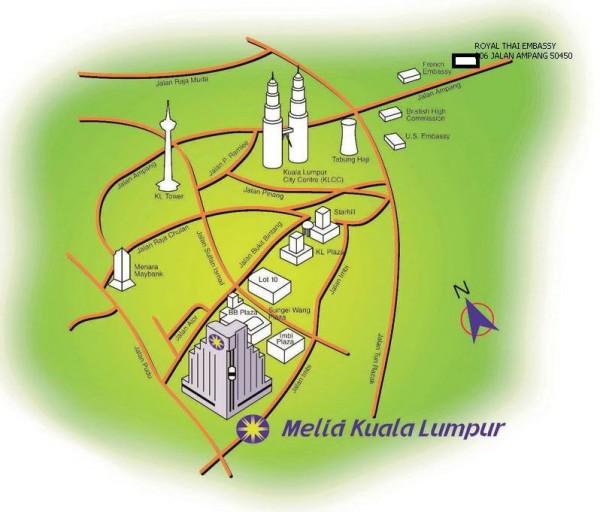 Местоположение тайского консульства в КЛ