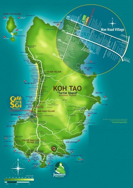 Ко Тао карта