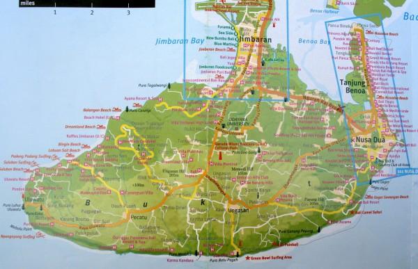 карта букита бали