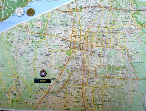 карта денпасара бали