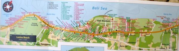 карта ловина бали