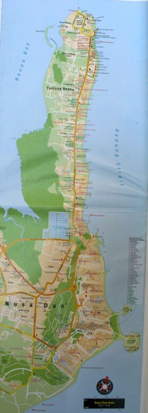 Карта Нуса Дуа Бали