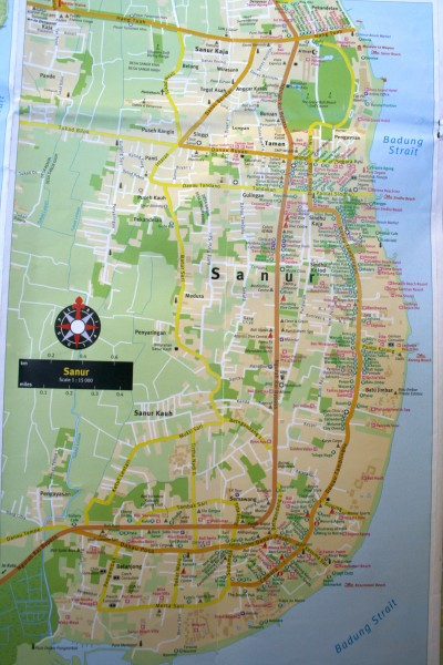 карта санур бали